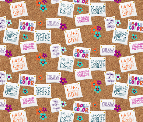 Creative New Years' Resolutions Board fabric by radianthomestudio on Spoonflower - custom fabric