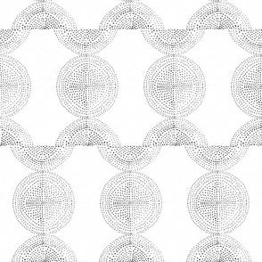 dot circles and half circles