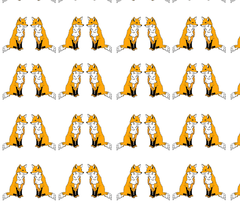 Foxes fabric by milchundhonig on Spoonflower - custom fabric