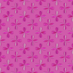 Raspberry Pink and Razzle Dazzle Rose Posies--3 in. motif