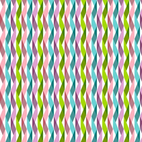 Wynton (Mini) || party ribbon crepe paper streamers triangles geometric chevron birthday celebration fabric by pennycandy on Spoonflower - custom fabric