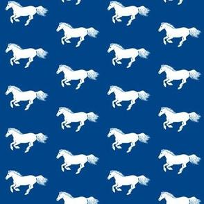 White Pony on Sorority Blue