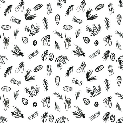 Winter Nature fabric by crumpetsandcrabsticks on Spoonflower - custom fabric