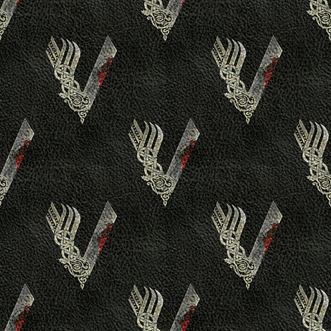Vikings - Leather Look fabric by arts_and_herbs on Spoonflower - custom fabric