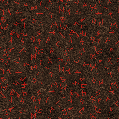 Runes on Leather fabric by arts_and_herbs on Spoonflower - custom fabric