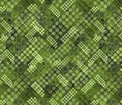garden_rhap_circle_green fabric by mindsthatcreate on Spoonflower - custom fabric