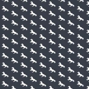 White Pony Charcoal Diagonal