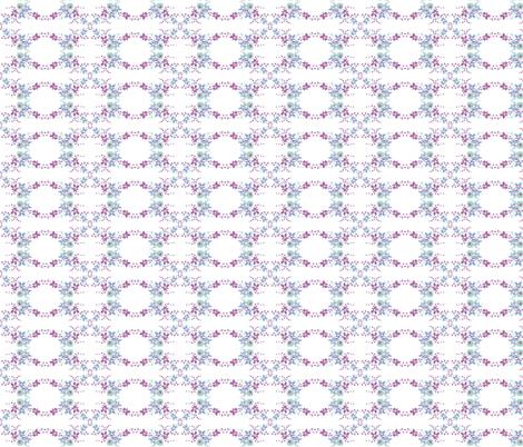 Vintage Pansies in Radiant Orchid, Hemlock and Placid Blue fabric by vintagegreenlimited on Spoonflower - custom fabric