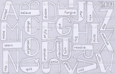 Resolution alphabet