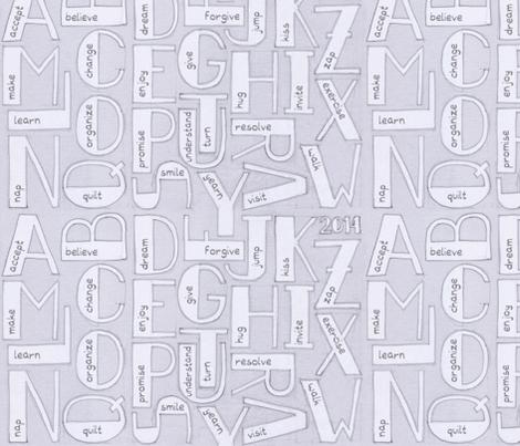 Resolution alphabet fabric by analinea on Spoonflower - custom fabric