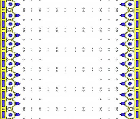 Blue Crown- Vertical fabric by essieofwho on Spoonflower - custom fabric