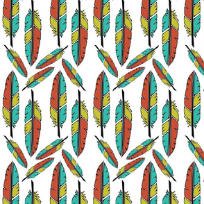Scattered Feather Print