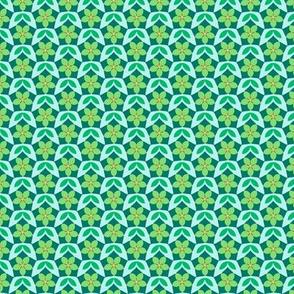 Pentagon Floral Diaper  (Serenity palette v1)