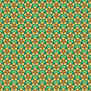 Pentagon Floral Diaper  (Serenity palette  v2)
