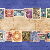 Stamps Tea Towel