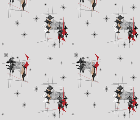 Diamand - Grey/Red/Tan fabric by tonyanewton on Spoonflower - custom fabric