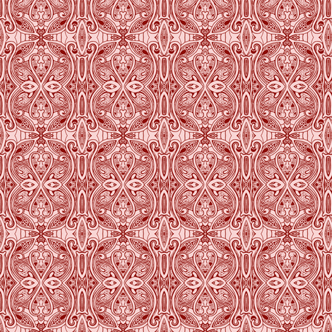 Great Grandmother's Parlor (red) fabric by edsel2084 on Spoonflower - custom fabric