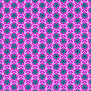 Pentagon Floral Diaper (Mad palette v2a)