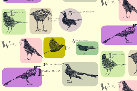 Blackbird's 8-point Manifesto for the New Year fabric by boris_thumbkin on Spoonflower - custom fabric