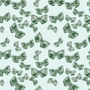 Moth in Forest Green
