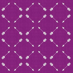 Arrow Diagonal Deep Plum