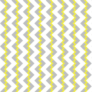 Chevron nested two frequency gray yellow