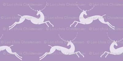 leaping stags violet