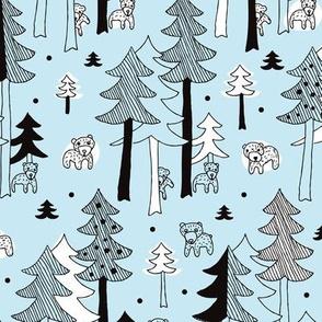 Scandinavian winter wonders grizzly bear forest