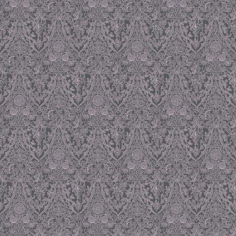 Amy's Honiton Moths Dark Ice fabric by amyvail on Spoonflower - custom fabric