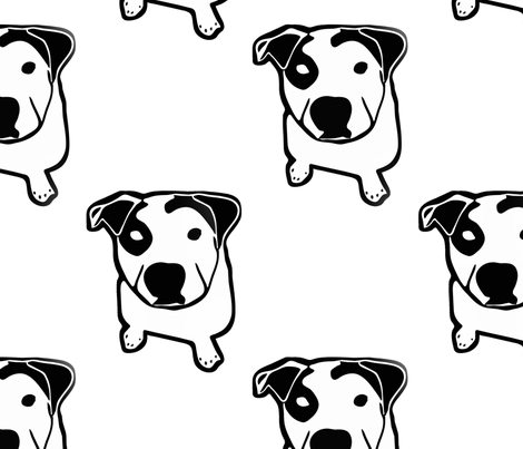 Pit Bull T-Bone Graphic  fabric by hisruinphotography on Spoonflower - custom fabric