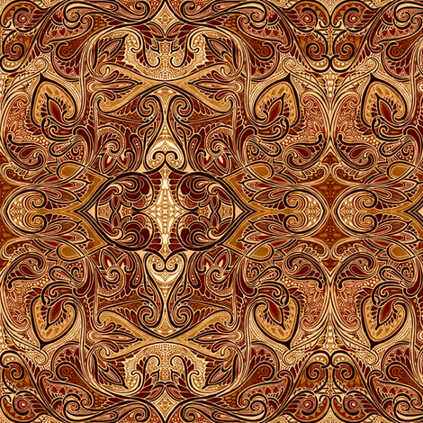 When Paisley Falls Into the Chocolate Vat fabric by edsel2084 on Spoonflower - custom fabric