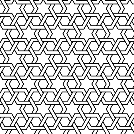 02708070 : hex-tri star weave fabric by sef on Spoonflower - custom fabric