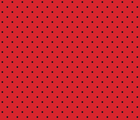 Little Dots Black on Red fabric by juliesfabrics on Spoonflower - custom fabric