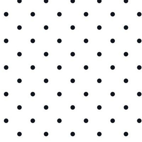 Little dots Black on White