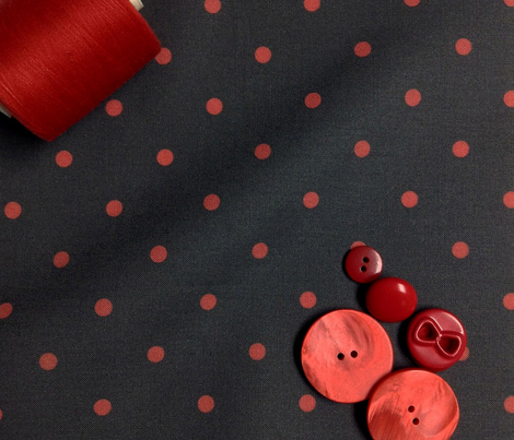 Little dots RED on BLACK