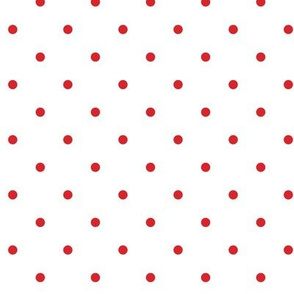 Little dots RED on WHITE