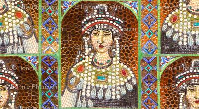 Byzantine Mosaic - Female saint