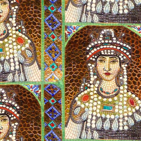 Byzantine Mosaic - Female saint fabric by bonnie_phantasm on Spoonflower - custom fabric