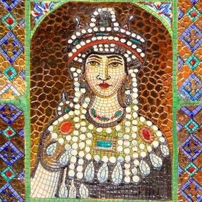 Byzantine Mosaic - Female saint