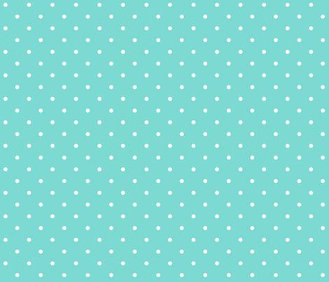 Little Dots WHITE on Aqua  fabric by juliesfabrics on Spoonflower - custom fabric