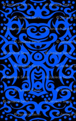 Tribal Damask Blue