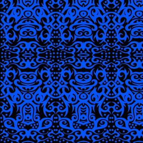 Tribal Damask Blue