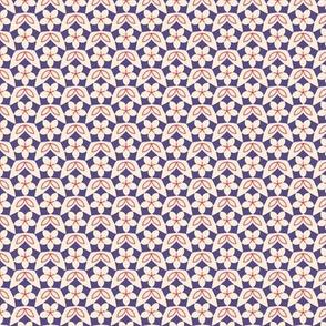 Pentagon Floral diaper in Spring Floral Quilt Block palette  v3