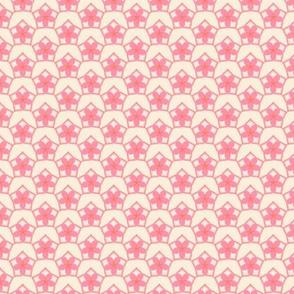 Pentagon Floral Diaper in Spring Floral Quilt Block palette  v4
