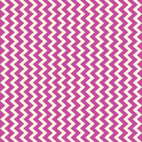 chevron in grape lilac on cream vertical