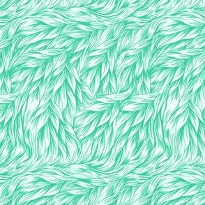 FUR in Bright Mint Green