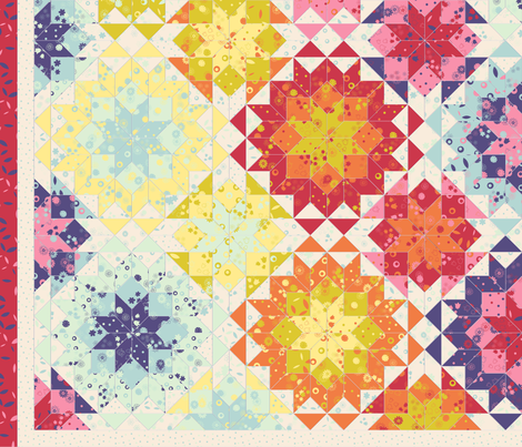 2-yards floral cheater quilt fabric by analinea on Spoonflower - custom fabric
