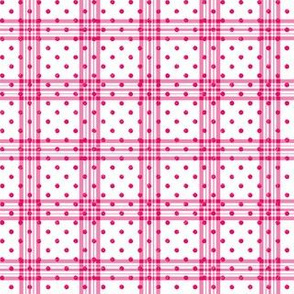 Polka plaid in pink