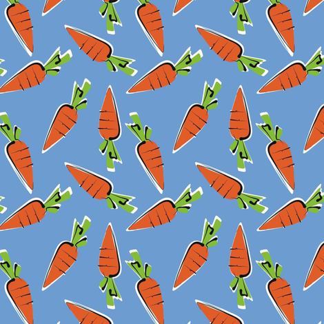 baby carrots - stir fry! fabric by moirarae on Spoonflower - custom fabric