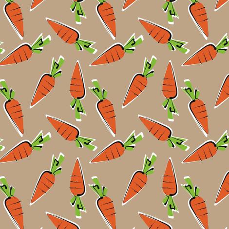 baby carrots - organic fabric by moirarae on Spoonflower - custom fabric